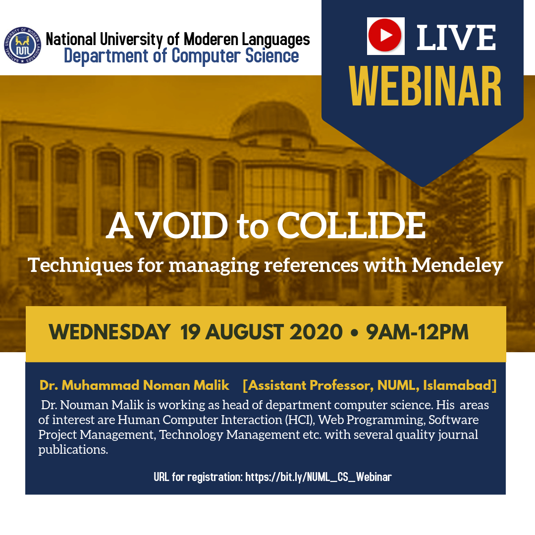 Webinar on 'Avoid to Collide'