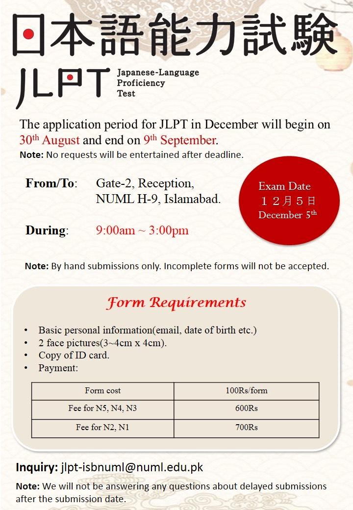 JLPT (Japanese Language Proficiency Test) Applications