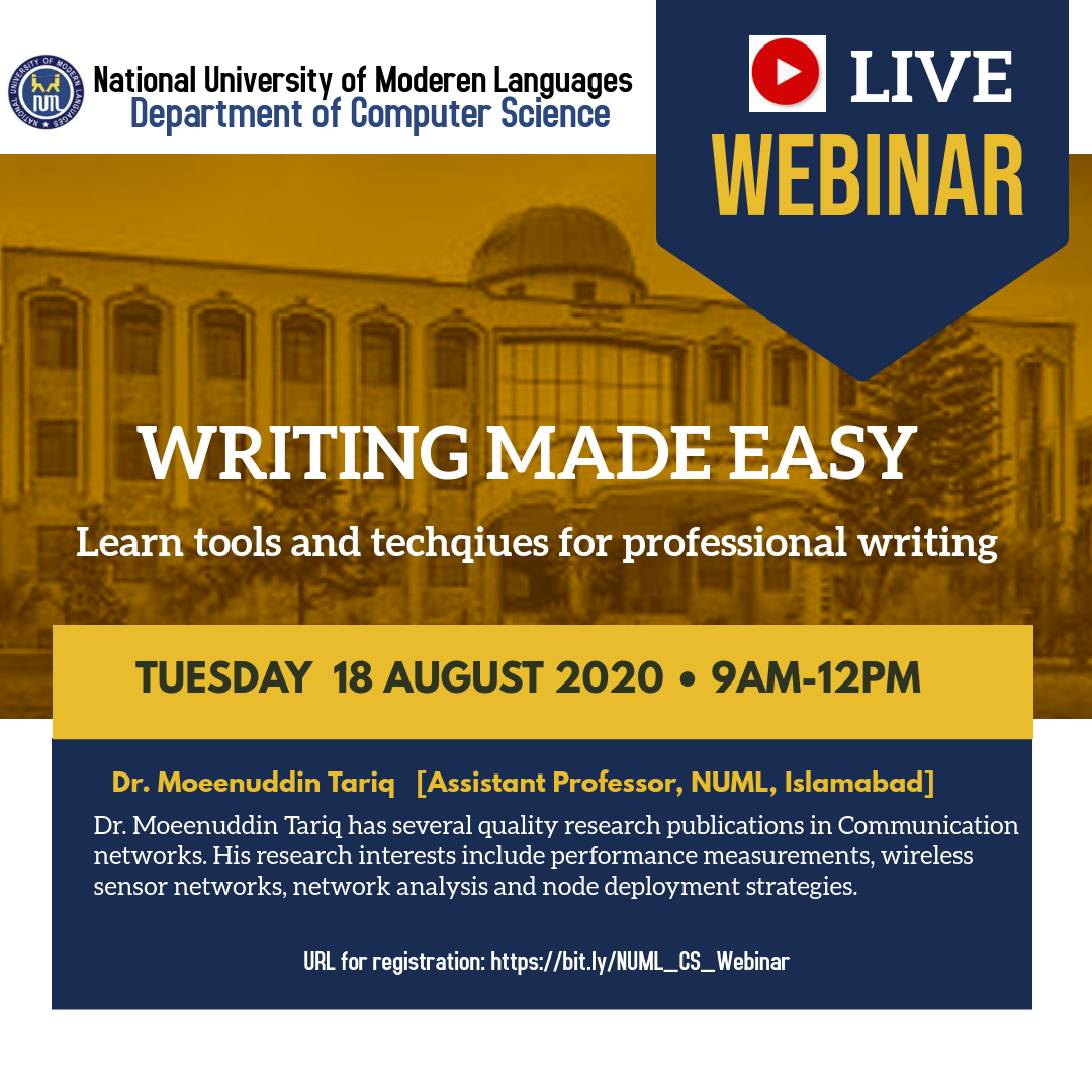 Webinar on 'Writing Made Easy'