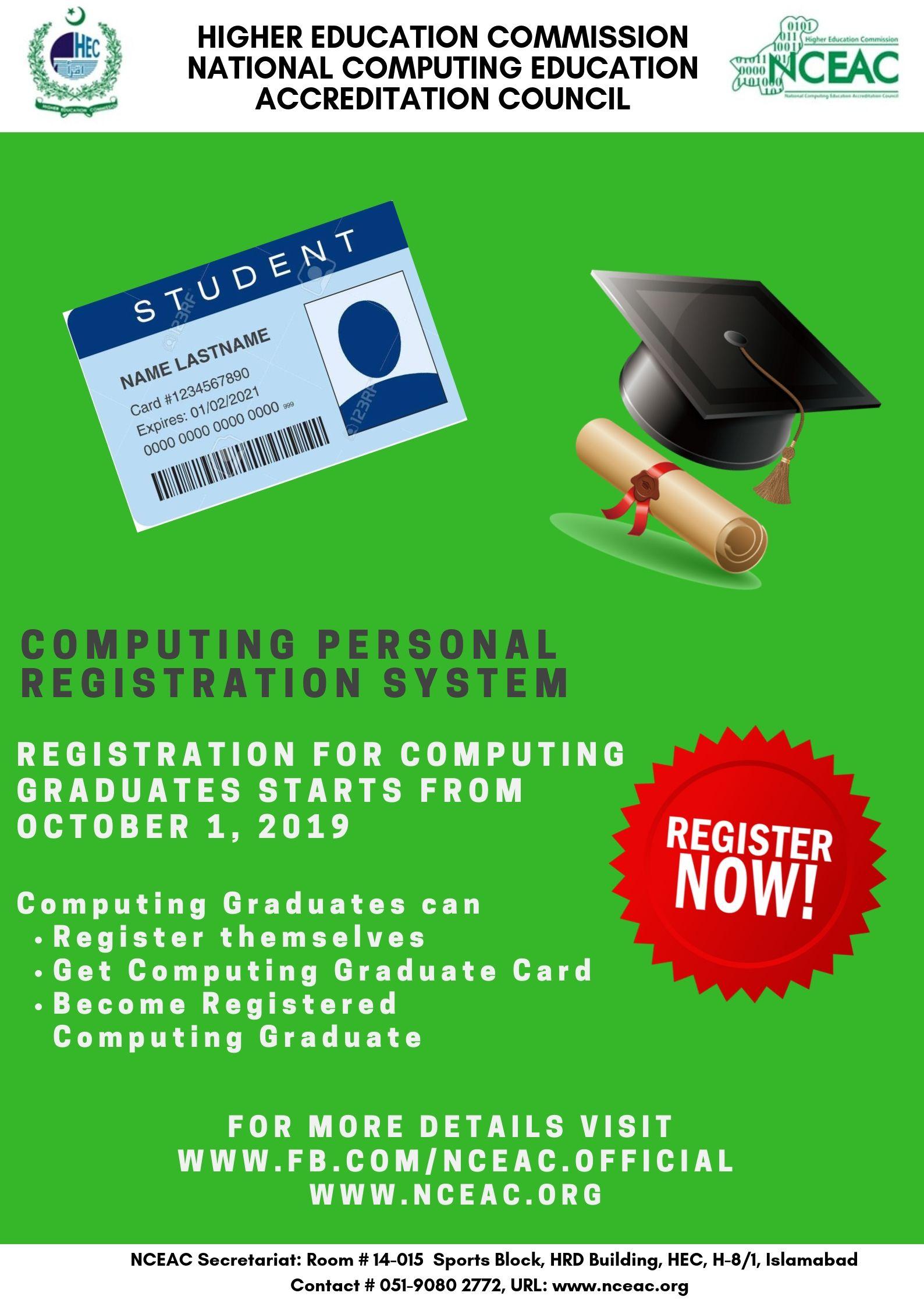 NCEAC Registration for SE Graduates