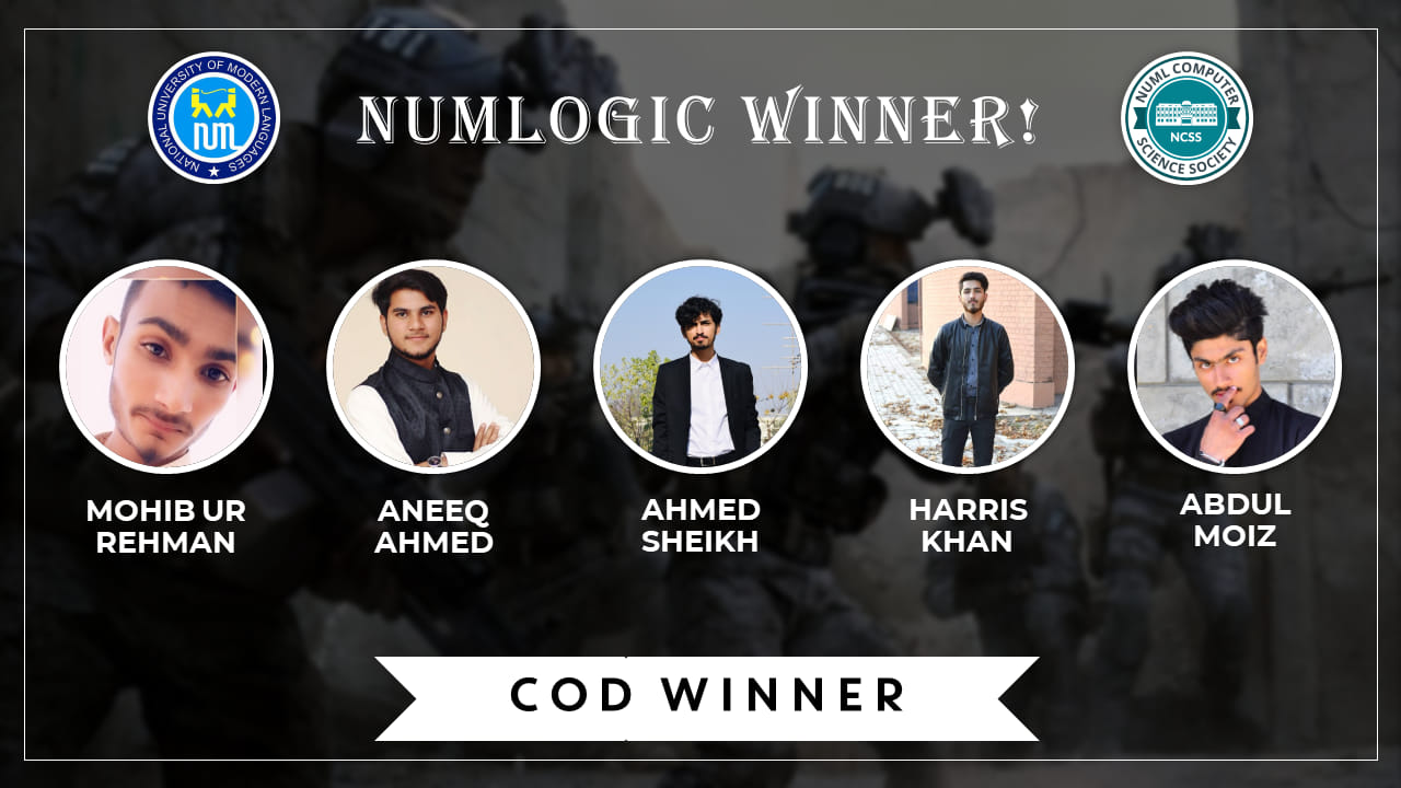 COD Winners for NUMLogic 2019