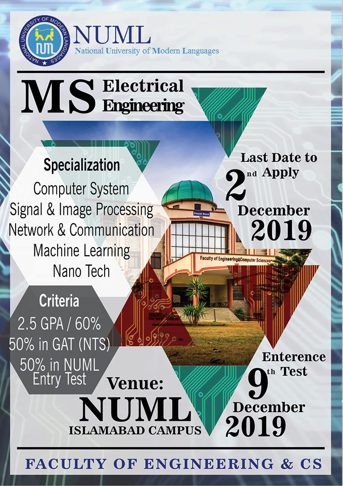 MASTER IN ELECTRICAL ENGINEERING