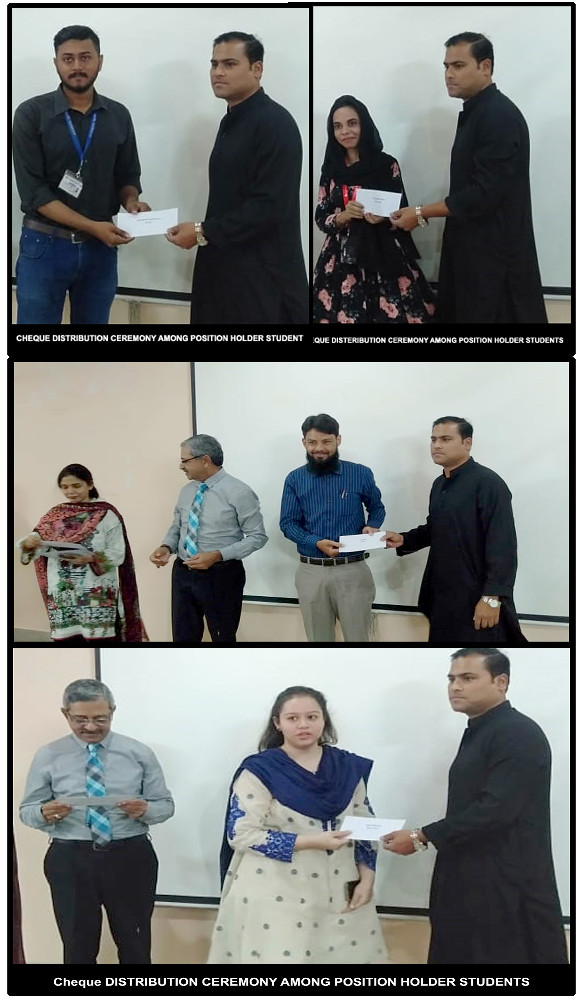 Cheque Distribution Ceremony Among Position Holder Students