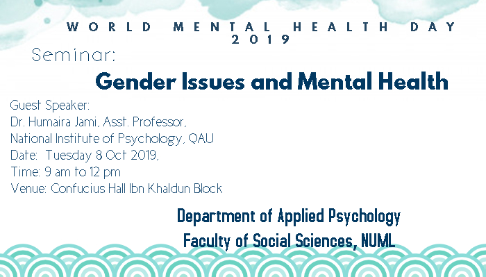 Seminar: Gender Issues and Mental Health