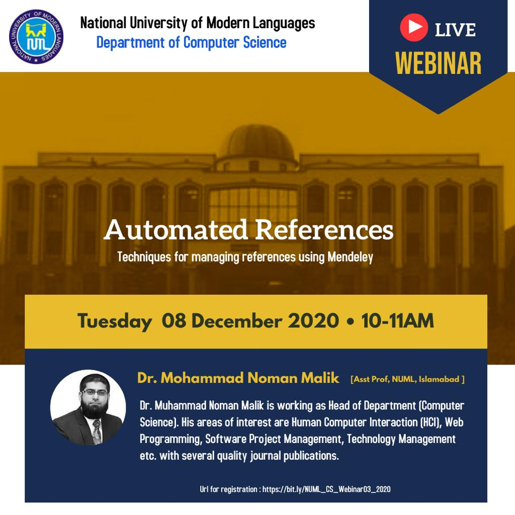 Webinar - Automated References