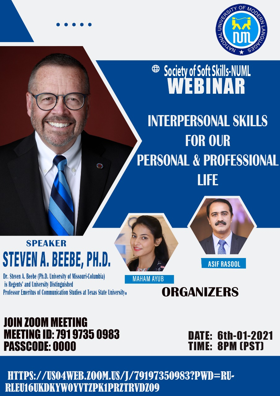 Webinar - Interpersonal Skills for our Personal & Professional Life